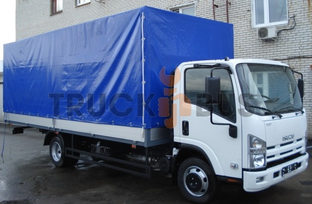The ISUZU NPR 75L-K/M car - a board awning