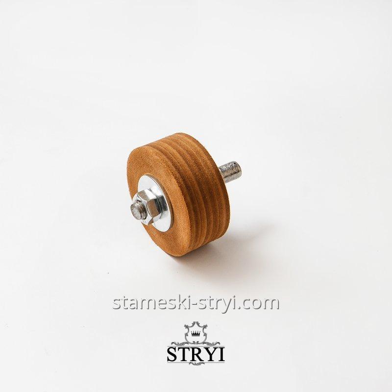 Кожаный круг для доводки и правки инструмента, 70 мм, арт.00071
