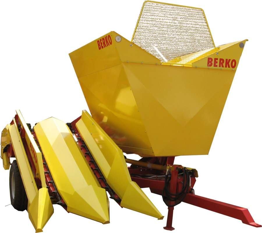 Комбайн для збирання кукурудзи в качанах