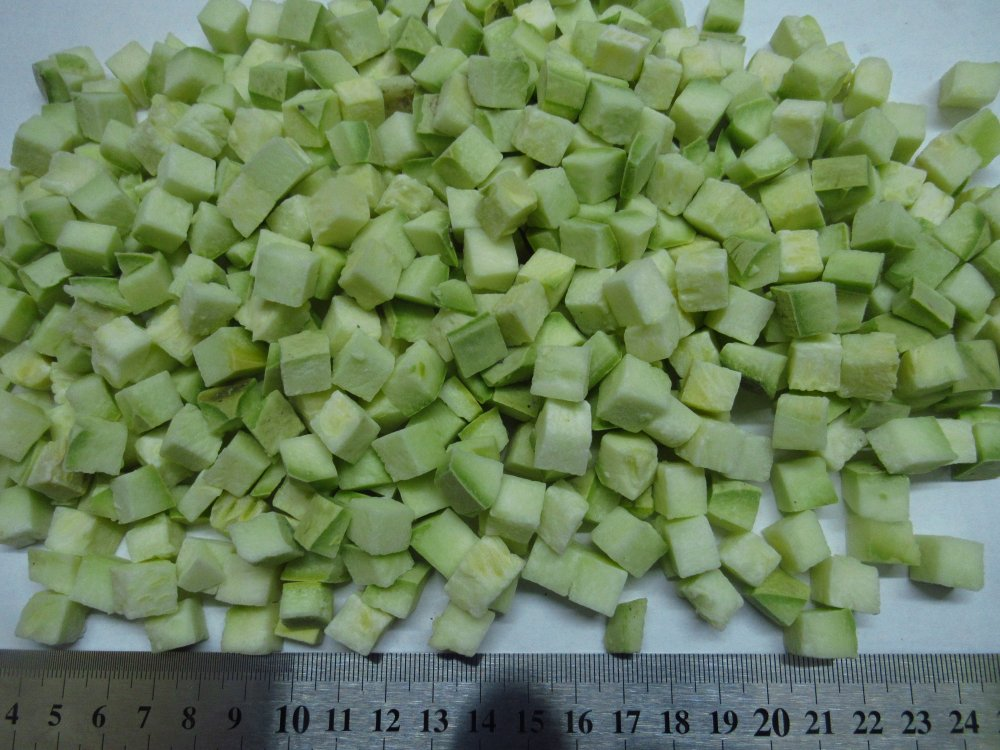 Buy Vegetable marrows, zucchini cube of 10*10 or 20*20