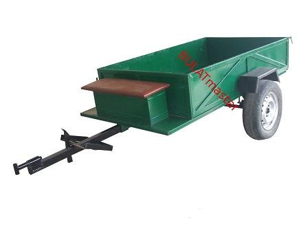 Купить Прицеп-самосвал с барабанными тормозами под универсальную ступицу (1300 х 1900 мм)