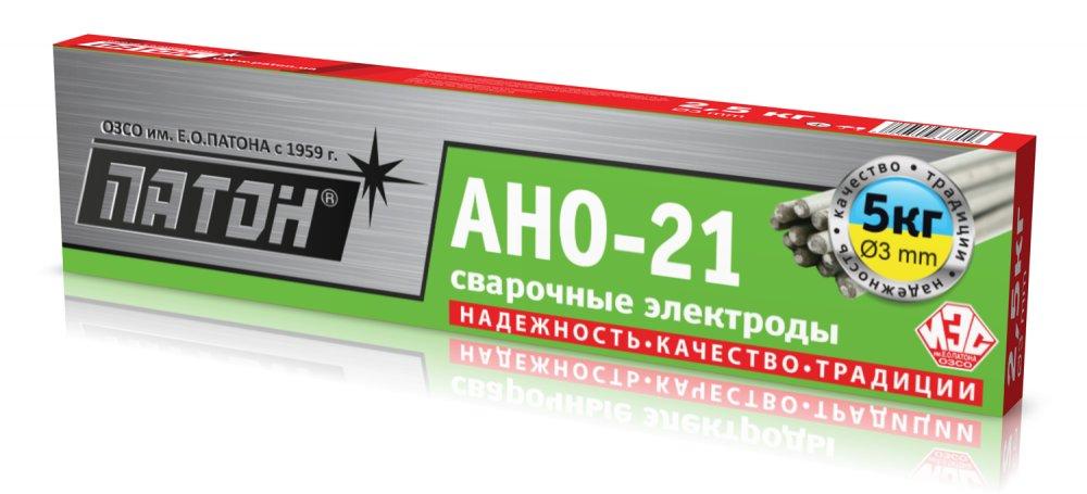 Купить Сварочные электроды ПАТОН АНО-21 диаметром 3 мм, 5 кг