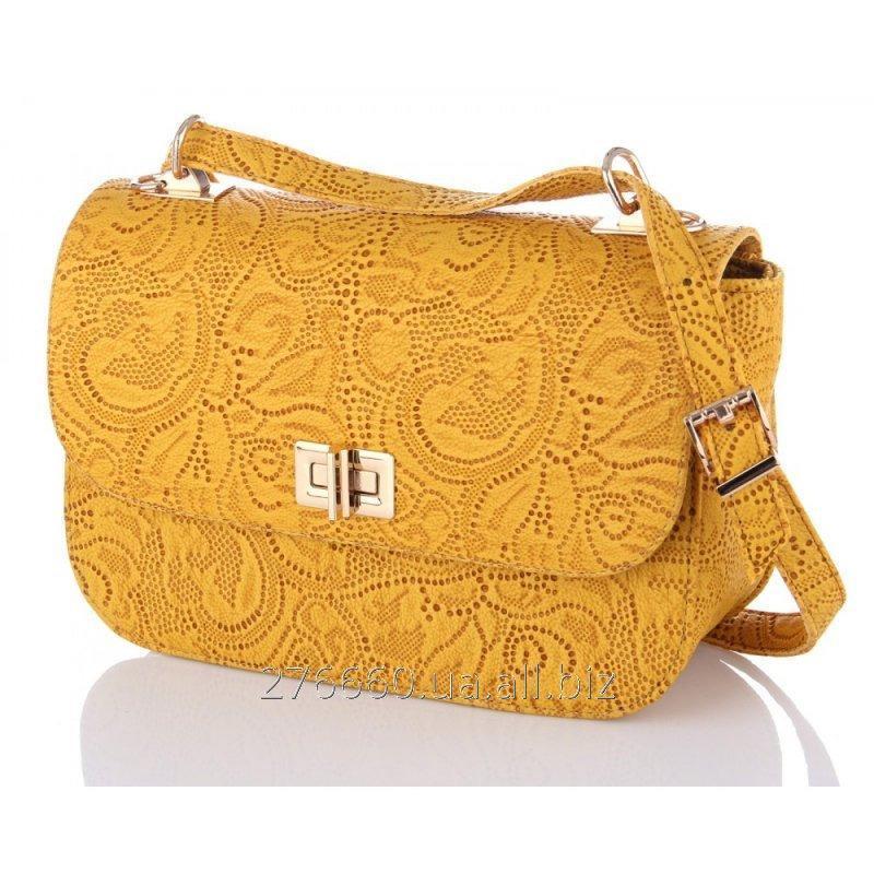 Buy Yellow handbag - an openwork stamping