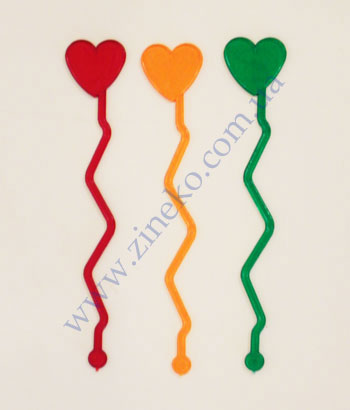 Mixer Heart lightning of color 100 pieces 17,5sm T