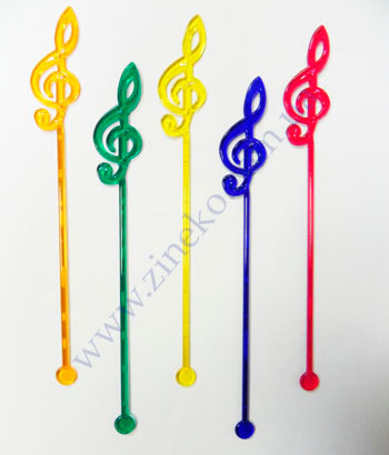 Mixer Treble clef of color 100 pieces 19 cm