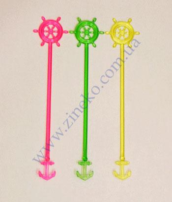 Mixer steering wheel of color 100 pieces 17 cm