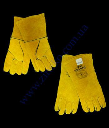 Купить Рукавицы Краги 4507 для сварки с подкладкой, желтые, р10
