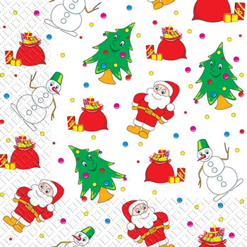 Napkin 33х33 Santa Klausi packing of 20 pieces.