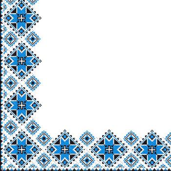 Napkin 24х24 3-layer Margo Vishivanka blue ornamen