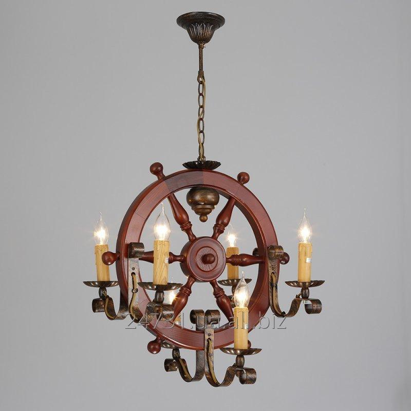 Купить Светильник деревянный, люста ALVI C 1052/6CA