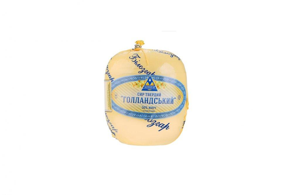 Сыр твердый сычужный `Голландский` жирность 50%