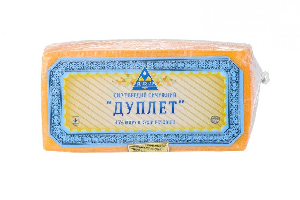 Сыр твердый сычужный `Дуплет`
