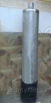 Дровяная колонка - титан из нержавейки для нагрева воды на 90 литров с чугунной топкой