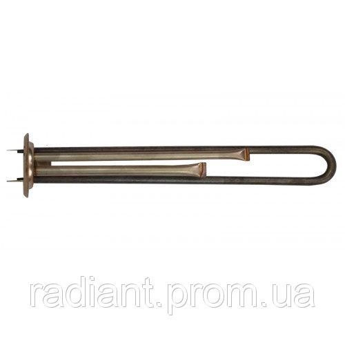 ТЭН Н6313TW: фланец d63, 1300 W прямой, нержавеющая сталь, резьба под анод М4.