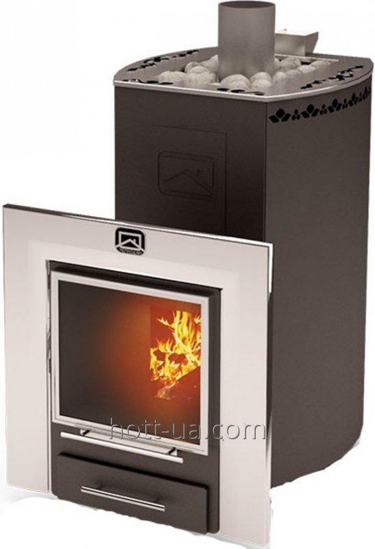 Buy Wood burning stove-stove Teplodar Kuban-panorama 20 l