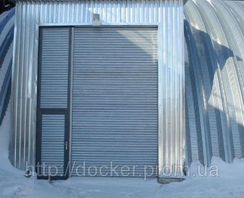 Ворота рулонные Hardwick промышленные с калиткой
