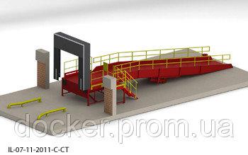 Эстакада перегрузочная 9м 6т с платформой уравнительной 1.8х2м и герметизатором проема 3х3м