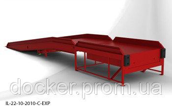 Эстакада перегрузочная 12м 6т с платформой уравнительной 1.8х2м и фермой выносной 90