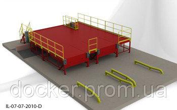 Пандус перегрузочный 6т с 2 платформами уравнительными 2х2.5м