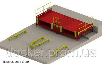 Пандус перегрузочный 6т с 2 платформами уравнительными 2х2м с выдвижной аппарелью