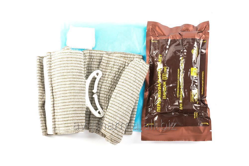 Купить Перевязочный пакет с кровоостанавливающим салфеткой