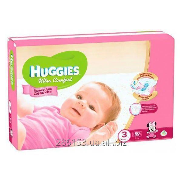 10a76fd497f0 Подгузники Huggies Ultra Comfort для девочек 3 (5-9 кг) 80 шт купить ...