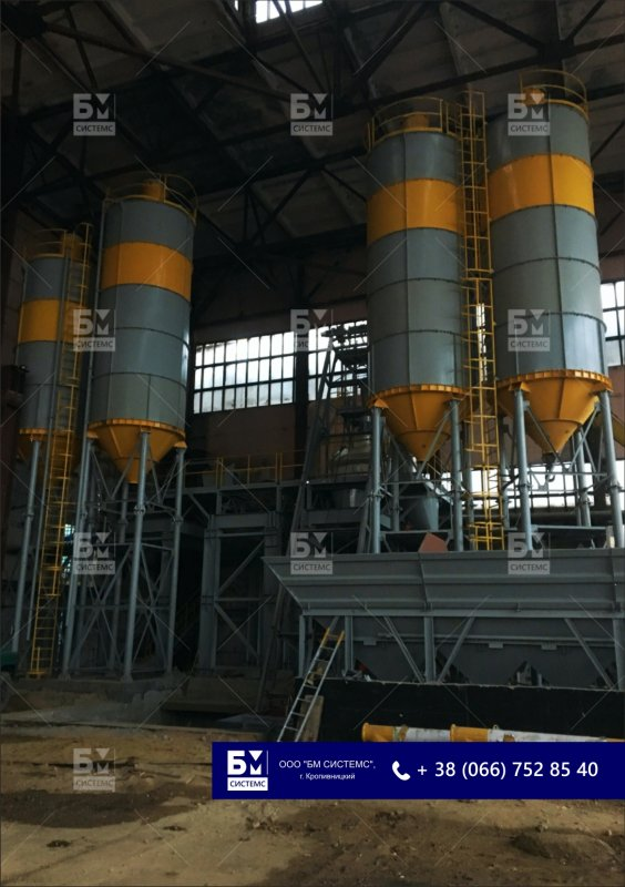 Silos for storage loose, a cement silo, cement warehouses, accumulative capacities