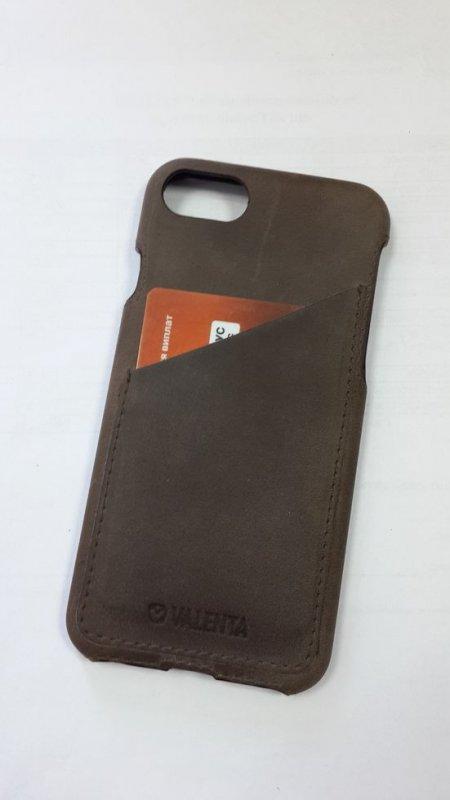Кожаный чехол-накладка Valenta для смартфона Apple Iphone 7
