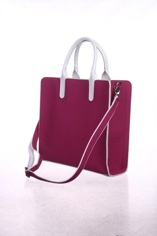 Женская сумка Valenta из неопрена розовая