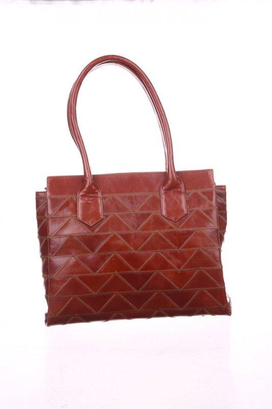 Кожаная женская сумка Valenta коричневая