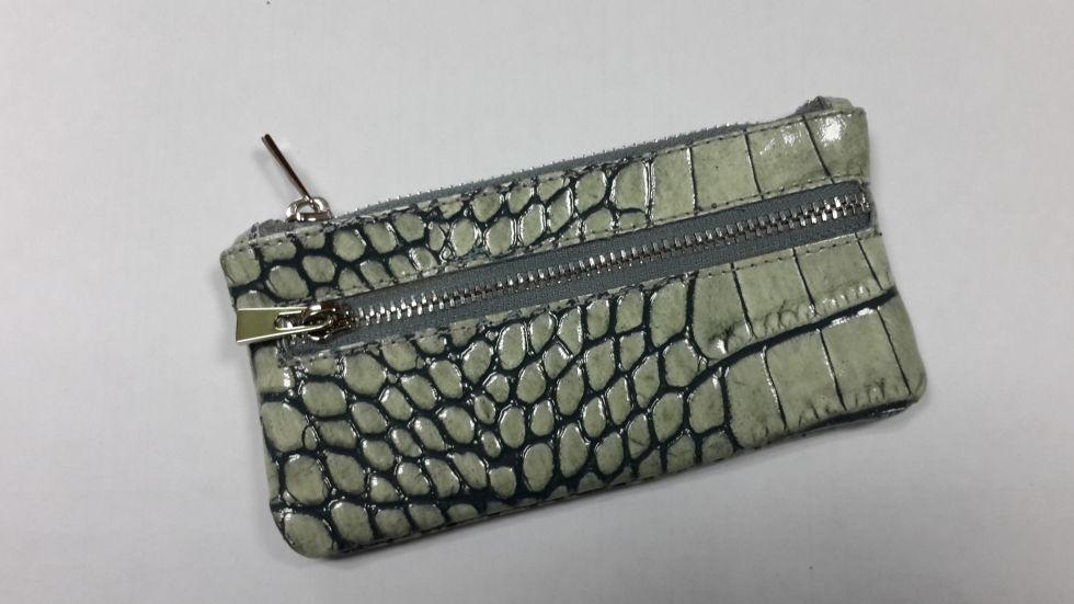 Кожаная сумочка для ключей Valenta кроко лак