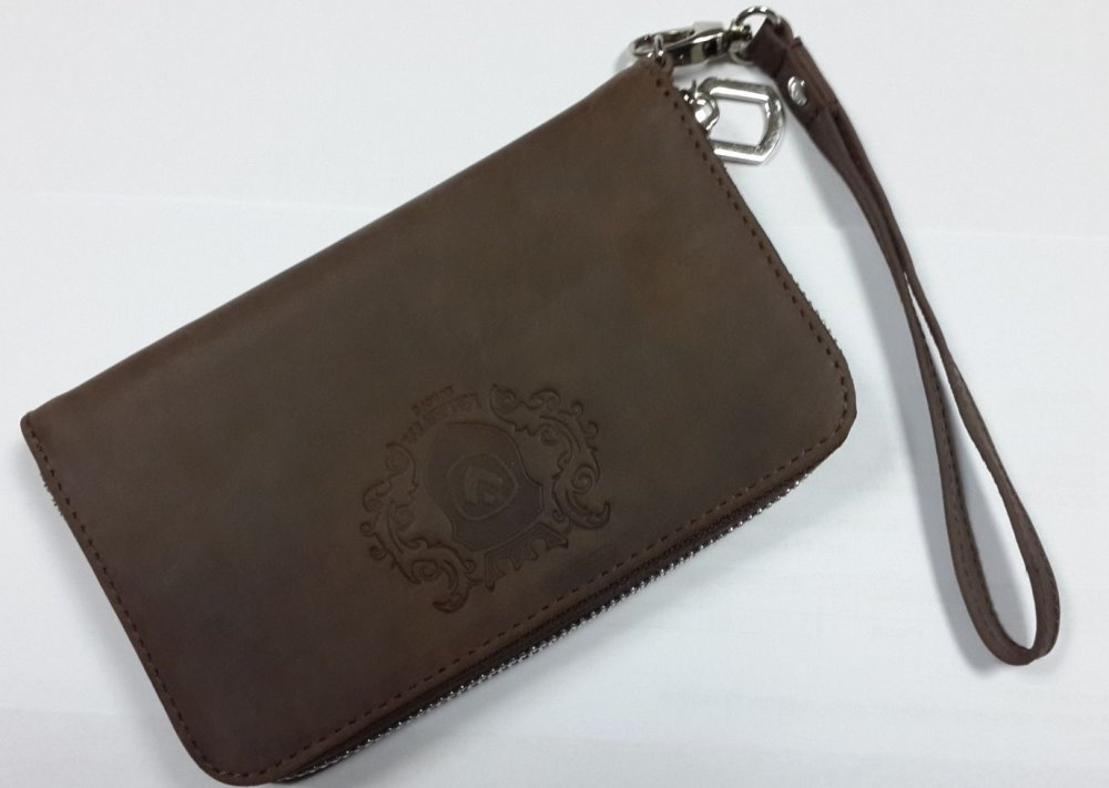 Кожаный кошелек Valenta с отделением для телефона