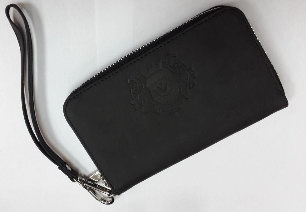 Кожаный кошелек на молнии Valenta с отделением для телефона