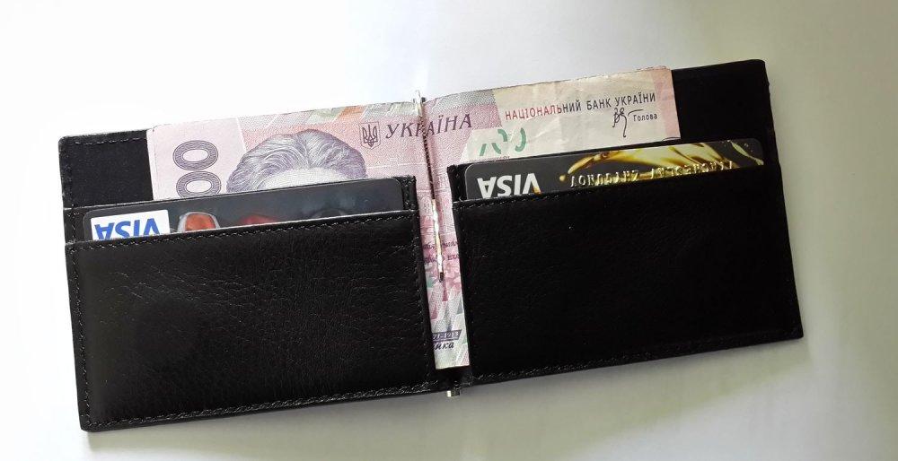 Кожаный мужской кошелек-зажим  для денег от Valenta