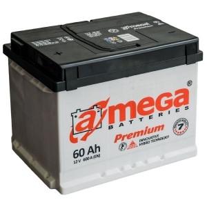 Аккумулятор A-MEGA, 60 Ач, 242x175x190, Правый + (обратной полярности), 600А
