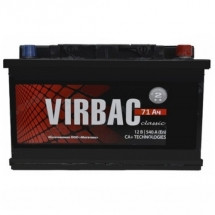 Аккумулятор Virbac Classic 6CT-71R+ низкий корпус