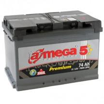 Аккумулятор Amega Premium Правый 6CT-74R+