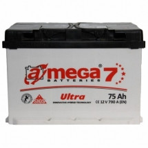 Аккумулятор Amega Ultra Левый 6CT- 75L+