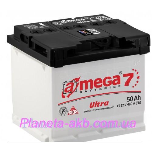 Аккумулятор AMEGA  Ultra 6СТ-50 Аз