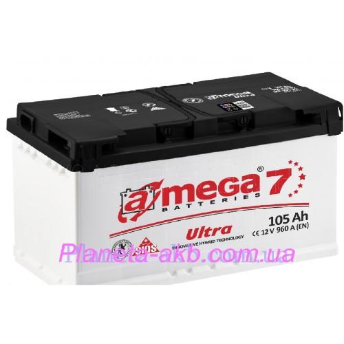 Аккумулятор AMEGA  Ultra 6СТ-105 Аз