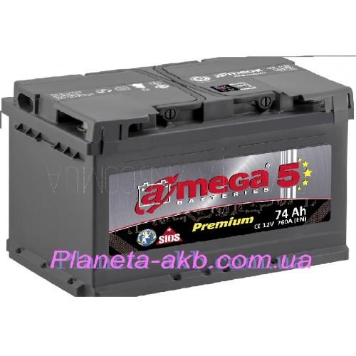 Аккумулятор AMEGA Premium 6СТ-74 АзЕ