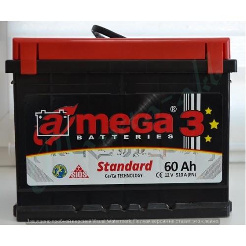 Аккумулятор AMEGA Standart 6СТ-60 АзЕ