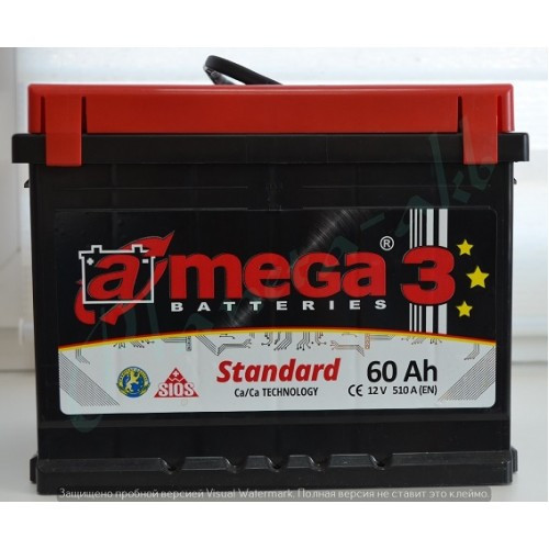 Аккумулятор AMEGA Standart 6СТ-60 Аз