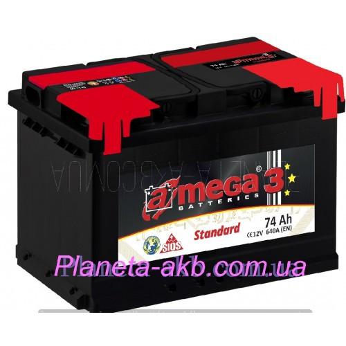 Аккумулятор AMEGA Standart 6СТ-74 АзЕ