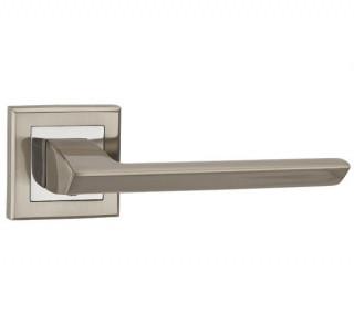Ручка дверная BLADE QL SN/CP-3 матовый никель/хром