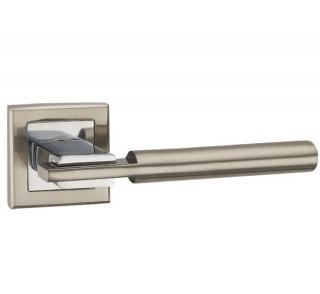Ручка дверная CITY QL SN/CP-3 матовый никель/хром