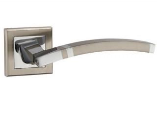 Ручка дверная NAVY QL SN/CP-3 матовый никель/хром