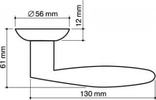 Ручка дверная Diona LD20-1SN/CP-3 матовый никель/хром