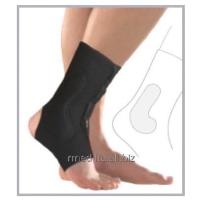 Orthopedic clamp the orthosis for support of a shin with an open heel and a  small pillow for an anklebone of 7630 Malleocare flex