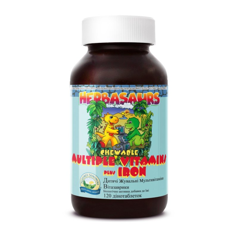 Купить Herbasaurs chewable Multiple vitamins Plus Iron